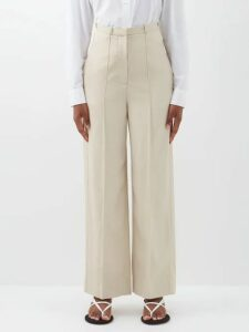 Chloé - Neck Cord Silk Blouse - Womens - Light Pink