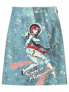 Pinko blue Space Program skirt