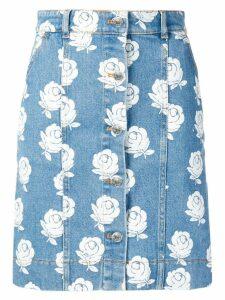 Kenzo denim floral skirt - Blue