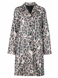 Calvin Klein 205W39nyc single-breasted leopard coat - Grey