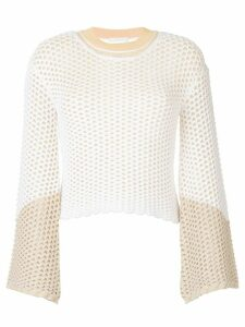 Chloé perforated layer jumper - White