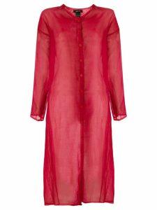 Avant Toi oversized sheer jacket - Red
