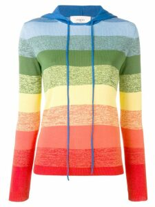 Ports 1961 rainbow striped knitted top - Orange