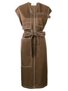 Ports 1961 structured dress - Brown