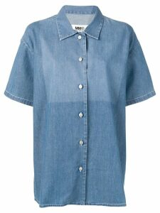 Mm6 Maison Margiela bleached jeans shirt - Blue