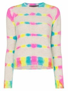 The Elder Statesman prism dyed cropped long sleeve knitted cashmere