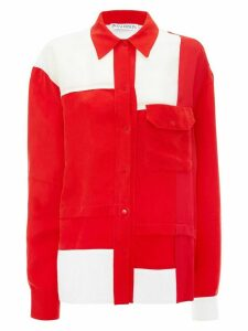 JW Anderson EXCLUSIVE PILLARBOX RED CONTRAST PANEL SHIRT