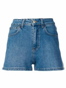 Gcds high waisted denim shorts - Blue