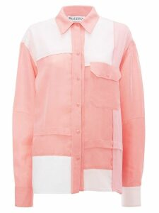 JW Anderson contrast panel shirt - PINK