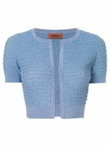 Missoni cropped textured knit cardigan - Blue