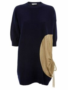 JW Anderson KNITTED TOP WITH METALLIC DETAIL - Blue