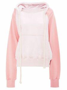 JW Anderson contrast-sleeve hoodie - Pink
