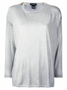 Avant Toi floral print jumper - Grey