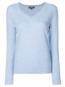 N.Peal cashmere V-neck jumper - Blue