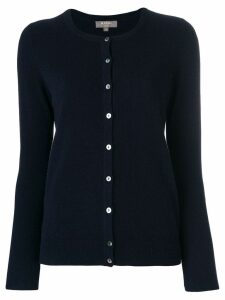 N.Peal cashmere round neck cardigan - Blue