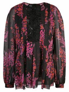 Giambattista Valli lace panel floral blouse - Black