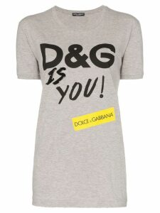Dolce & Gabbana D & G Is You print cotton T-shirt - Grey