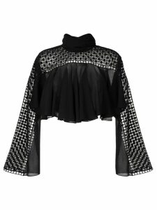 Philosophy Di Lorenzo Serafini embroidered blouse - Black
