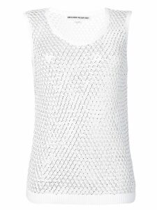 Ermanno Scervino sheer knitted top - White