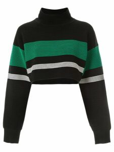 Nagnata retro cropped turtleneck jumper - Black