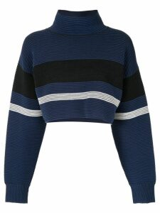 Nagnata retro cropped turtleneck jumper - Blue