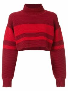 Nagnata retro cropped turtleneck jumper - Red