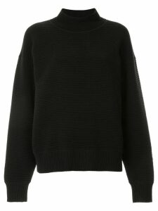 Nagnata merino wool blend rib-knit turtleneck jumper - Black
