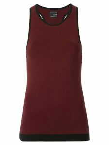 Nagnata black trim racerback tank top - Brown