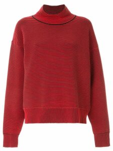 Nagnata ribbed knit turtleneck jumper - Red