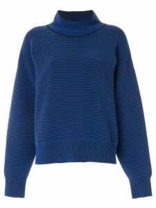 Nagnata ribbed knit turtleneck jumper - Blue