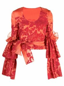 Rosie Assoulin wrapped waist blouse - Red