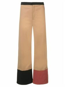 Rosie Assoulin contrasting cuffed trousers - Brown