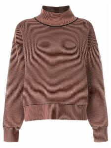 Nagnata ribbed knit turtleneck jumper - Brown