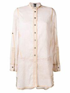 Ann Demeulemeester tunic style button blouse - NEUTRALS