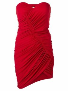 Alexandre Vauthier strapless ruched mini dress - Red