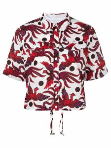 Kenzo Flying Phoenix cropped shirt - Red
