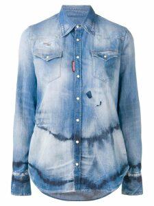 Dsquared2 tie-dye denim shirt - Blue