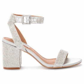 Steve Madden  Malia silver heeled sandal with sequins.  women's Sandals in Silver