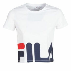 Fila  WOMEN EARLY CROPPED tee  women's T shirt in White