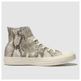 Converse Natural All Star Snake Hi Trainers