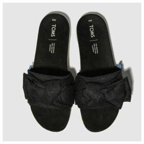 Toms Black & White Paradise Slide Sandals