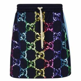 Gucci Gg Sequin Skirt