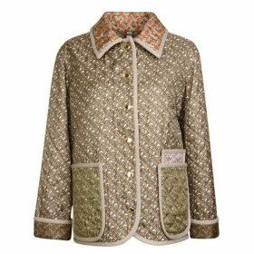 Burberry Monogram Printed Silk Jacket