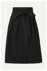 Runway Marc Jacobs - Belted Denim Midi Skirt - Black