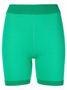 Nagnata Bodhi side stripe biker shorts - Green