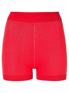 Nagnata Yoni side stripe compression shorts - Red