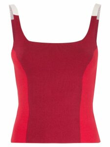Nagnata colour block tank top - Red