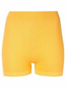 Nagnata Yoni side stripe compression shorts - Yellow