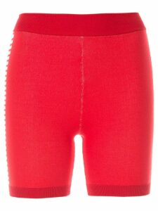Nagnata Bodhi side stripe biker shorts - Red
