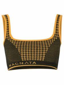 Nagnata houndstooth bralette - Yellow